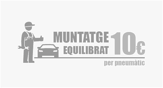 Servei de muntatge i equilibrat per només 10€+iva (Turismes) & 15€+iva (4x4, Furgonetes)!